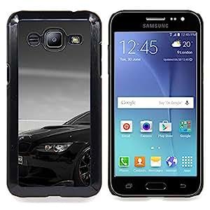 "Qstar Arte & diseño plástico duro Fundas Cover Cubre Hard Case Cover para Samsung Galaxy J2 / J200 (Negro Beemer"")"