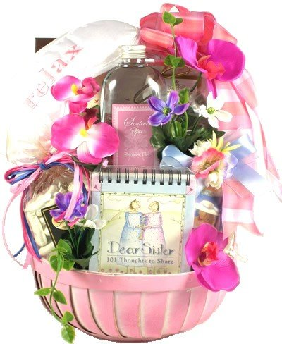 Dear Sister -Birthday, Holiday, or Mother's Day Gift Basket for Sisters