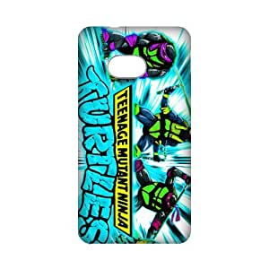 3D Print Classic Cartoon Film&Teenage Mutant Ninja Turtles Theme Case Cover for HTC ONE M7- Personalized Cell Phone Protective Hard case Shell