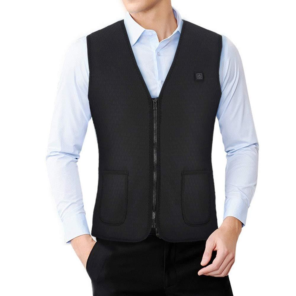 Lizbill Carbon Fiber Electric Heating Vest Men Women Warm Heated Business Jacket Sleeveless Waist Heating Casual Coats Good