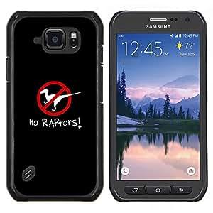 Centro SKCASE/Carcasa bolsa - raptores astutas Poster afta negro Samsung Galaxy S6 - activo G890A