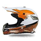 Woljay Dual Sport Off Road Street Motorcycle helmet Dirt Bike ATV DOT Certified (XXL, White)