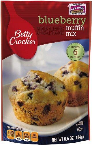 Betty Crocker Blueberry Muffin Mix, 6.5 oz Pouch (Pack of 24)
