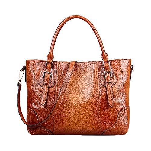 Femmes à WKNBEU Main True Shoulder Brown Sacs Diagonal Brown Leather Large 8w7fwq