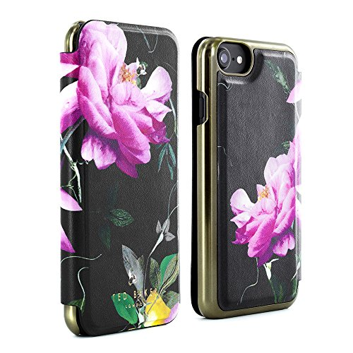 83bb57196 Official TED BAKER AW16 iPhone 6   6S Case – Luxury Folio Case   Cover in  Flower Design for Women with Built-In Interior Mirror for the Apple iPhone 6  and ...