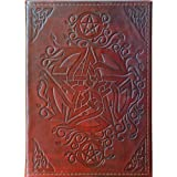 The New Age Source Leather Journal Celtic Pentacle Each