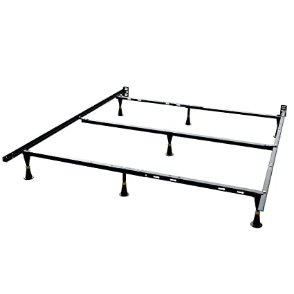 Metal twin/full/queen adjustable bed frame