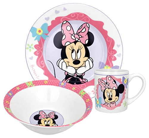 - Disney Minnie Bow-Tique Dinnerware Set, 3-Piece
