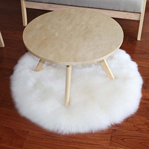 Wensltd Clearance! Soft Artificial Sheepskin Rug Chair Cover Artificial Wool Warm Hairy Carpet Seat Pad (White)