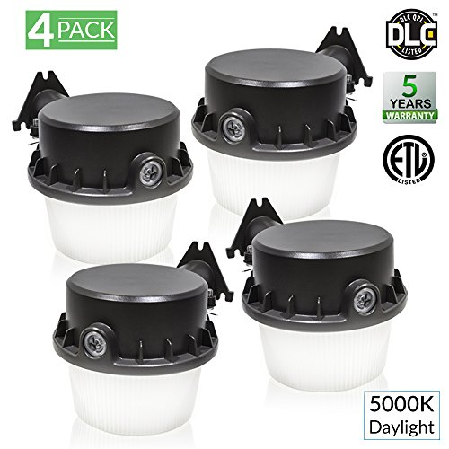 (Sunco Lighting 4 Pack - 35W Dusk-to-Dawn LED Outdoor Barn Light, 250W Equivalent, 5000K Daylight, 3500lm Floodlight, ETL-Listed Yard Light for Area Lighting, Wet Location Photocell Included)