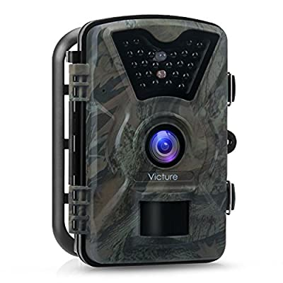 "?Upgraded?Victure Trail Camera 1080P 12MP Wildlife Camera Motion Activated Night Vision 20m with 2.4"" LCD Display IP66 Waterproof Design for Wildlife Hunting and Home Security"
