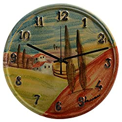 Italian Dinnerware - Clock - Handmade in Italy from our Sogno Toscano Collection