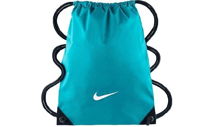 Nike Fundamentals Swoosh Gymsack Mochila de Cuerdas, Hombre, Azul (Omega Blue/Negro / (White), Talla Única: Amazon.es: Deportes y aire libre