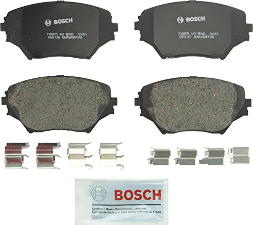 Bosch BP862 QuietCast Premium Semi-Metallic Disc Brake Pad Set For 2001-2005 Toyota RAV4; Front (Best Semi Metallic Brake Pads)
