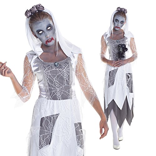 Womens Zombie Graveyard Bride Costume Costume (Fancy Dress Costume)