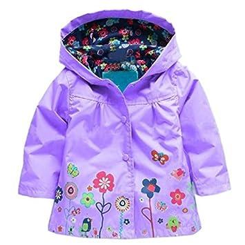 131d3cbf04a0 Amazon.com   Arshiner Girl Baby Kid Waterproof Hooded Coat Jacket ...