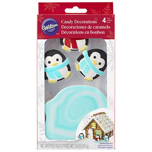Wilton 4 Count Candy Decorations - Penguins with Pond by Decoration