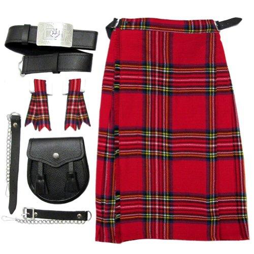 Royal Stewart Boys Kilt Kit/Outfit With Kilt, Sporran Belt & Flashes Age -