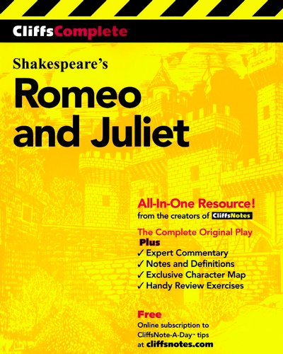 Pdf Teen CliffsComplete Romeo and Juliet