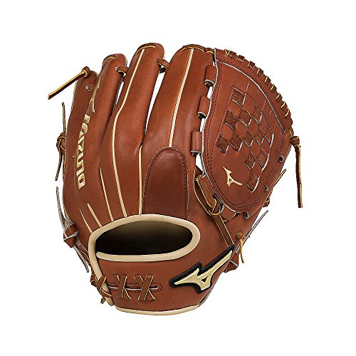 - Mizuno GPS1-100R Pro Select Infield/Outfield/Pitcher  Baseball Gloves, Size 12, Brown, Right Hand Throw