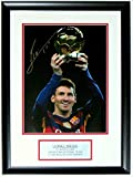 Lionel Leo Messi Signed Barcelona 11x14 Photo - Authenticated by Messi Foundation COA - Professionally Framed & Plate