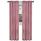 ArtOFabric Checkered Polyester Gingham Curtain Panel (Set of 2) RED (58 X 63 Inch) Review