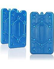 com-four® 3X Paquete de Hielo Plano - Ahorra Espacio y es Ideal para la Nevera y la Bolsa de frío - Elemento refrigerante Estrecho para el Camping y la Playa (03 Piezas - Medio)