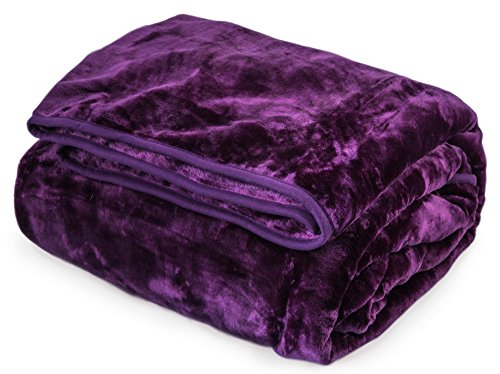Archangel Ultra Silky Soft Heavy Duty Quality Korean Mink Reversible Cloud Blanket Solid Queen 83