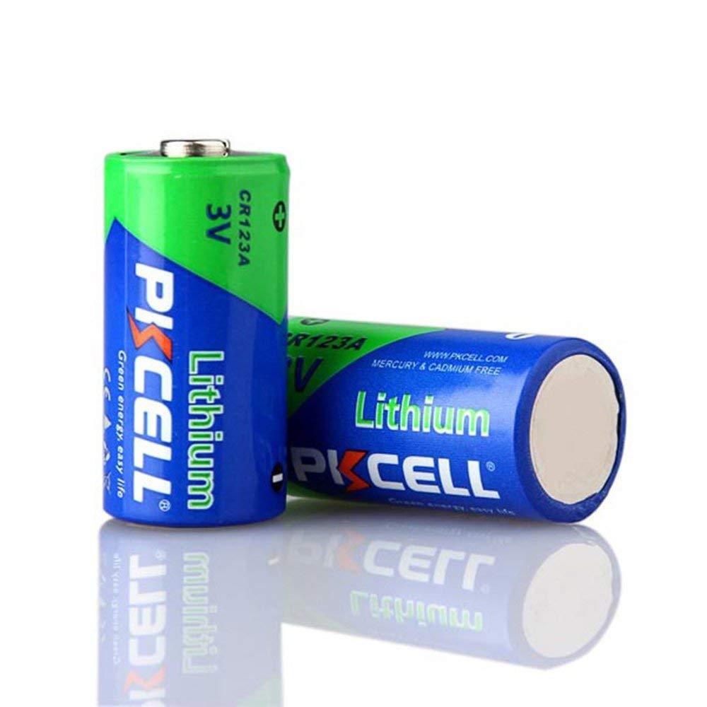 Gr/ün /& Blau 10 Teile//satz Hohe Leistung CR123A 3.0 V 1500 MAH Quecksilber /& Cadmiumfreie Batterie Langlebige Lithium-Batterie F/ür LED-Taschenlampe