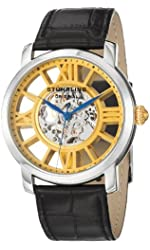 Stuhrling Original Men's 280.331531 Classic Winchester Terrace Mechanical Skeleton Gold Tone Watch