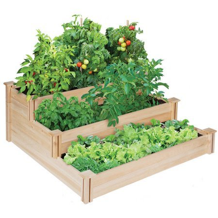 Greenes 4 Ft. X 4 Ft. X 21 In. Tiered Cedar Raised Garden Bed -2 Packs