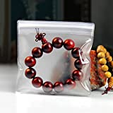 250 Pcs Square Jewelry Anti-Oxidation EVA Poly Bag Clear Flat Ziplock Jewellery Jade Pearl Bracelet Makeup Tool Merchandise Pack Self Grip Seal Craft Accessory Zipper Pouch 13x13cm (5.1x5.1 inch)