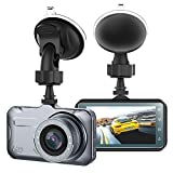 Yikoo Full HD Car Dash Cam, 1080p Front 170 Degree Super Wide Dashboard Camera with 3 inches high-Definition LCD Screen, Motion Detection, G-Sensor, Loop Recording, Night Mode For Sale
