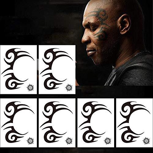 Kotbs 6 Sheets Temporary Tribal Face Tattoo, Waterproof Temporary Tattoos Halloween Tattoo Sticker for Men Women Fake Tattoos]()