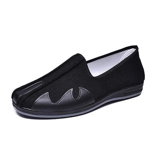 KINDOYO Conducción Zapatos Barco Transpirable Tela - Kung Fu Tai Chi Artes Marciales Zapatillas Deportivas Negro