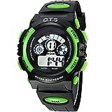 Linwach Green Kids Boys Waterproof Students Digital Watch