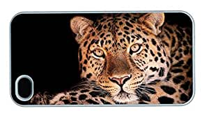 Hipster iPhone 4 amazing cover Leopard Background PC White for Apple iPhone 4/4S