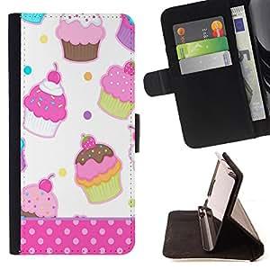 Super Marley Shop - Funda de piel cubierta de la carpeta Foilo con cierre magn¨¦tico FOR Apple iPhone 4 4S 4G- Ice Cream Summer