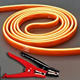 TOPDC Luminous Battery Jumper Cables 4 Gauge 20 Feet Glow in the Dark Heavy Duty Booster Cables (4AWG x 20Ft)