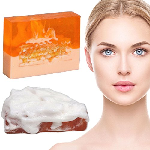 Honey Royal Jelly Face Wash Bar Soap for Oily Skin Dry Skin Moisturizing Sensitive Skin with a Foaming Net To Create a Luxurious Lather for Men Women