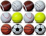 1 dozen GBM Golf assorted sports balls