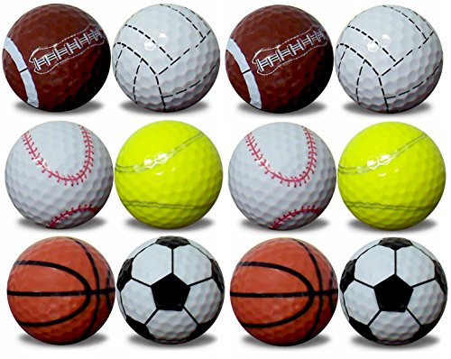 1 dozen GBM Golf assorted sports balls