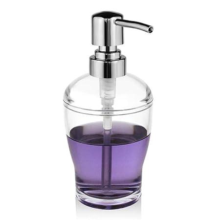 YXISHOME Dispensador de jabón Transparente, Cromo, acrílico, jabón ...