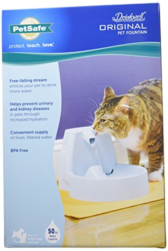 Compra PetSafe Drinkwell Original Dog and Cat Water Fountain, 50 oz. en Usame