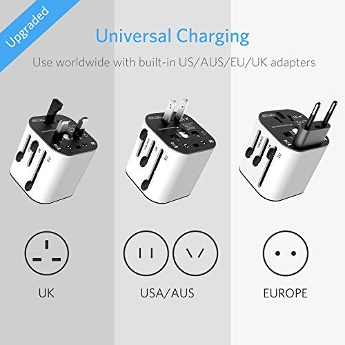 BESTEK Travel Adapter and Converter Combo, 220v to 110v Voltage Converter with All-in-one International Power Adapter - [Use for US appliances Overseas] by BESTEK (Image #2)