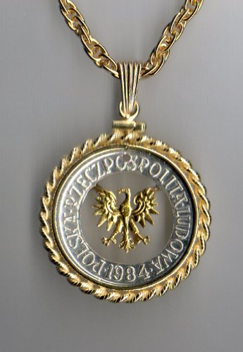 Stunning Polish Eagle - Gold & Silver Coin Cut Outs In Gold Filled Bezels (Pendant Out Eagle Cut)