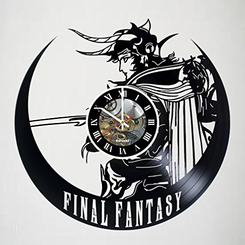 Scratch Vinyl Final Record (Final Fantasy 7 Adventure Anime PS PC Games Vinyl Record Wall Clock - Decorate your home with Modern Famous Final Fantasy Movie - Fantasy art design Incredible Art - LEAVE A FEEDBACK AND WIN A CLOCK)