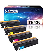 Uniwork Compatible TN436 Toner Cartridge Replacement for Brother TN 436 TN436 TN436BK TN433 Use for MFC-L8900CDW HL-L8360CDW HL-L8260CDW MFC-L8610CDW MFC-L9570CDW HL-L9310CDW Printer, 4 Pack