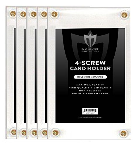 5 Max Pro Non-Recessed 4-Screw Ultra Clear Trading Card Holders