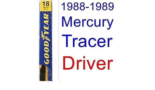 1988 - 1989 Mercury Tracer hoja de limpiaparabrisas de repuesto Set/Kit (Goodyear limpiaparabrisas blades-premium): Amazon.es: Coche y moto